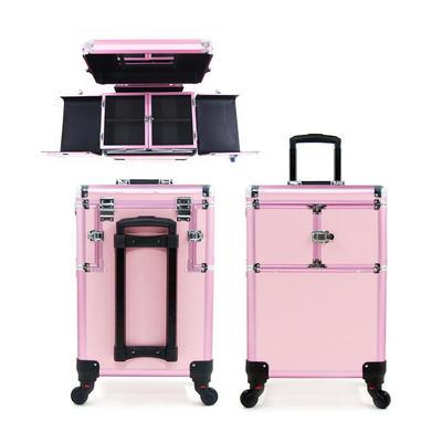 Wholesale Professional Portable Aluminum cosmetic vanity case box makeup train case