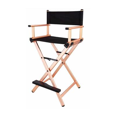 Professional Aluminum Folding beauty chair with universal wheels black color