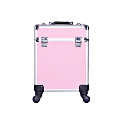 Professional Aluminum Large Capacity Cosmetic Make Up Trolley Case
